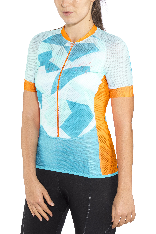 512f6226d Castelli Climber s Bike Jersey Shortsleeve Women orange blue at ...